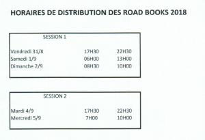road book 2018